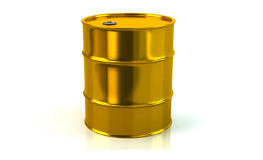 Golden oil barrel