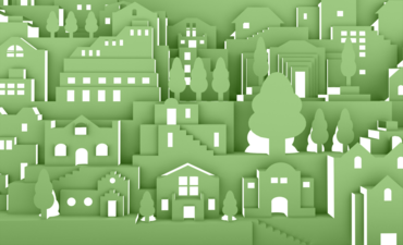 Illustration of green buildings