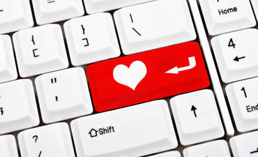 Illustration of a heart button on a keyboard