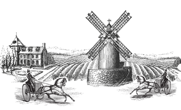 horse and buggies and windmills