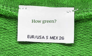 Label on a green sweater