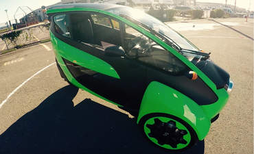 Toyota i-road concept tour urban transportation