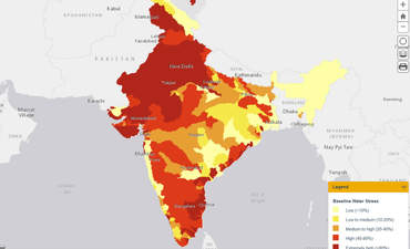 Detail from WRI's new India Water Tool 2.0