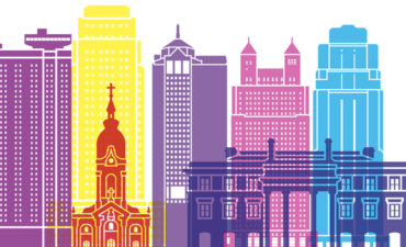 Illustration of Kansas City's skyline