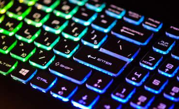 A backlit keyboard