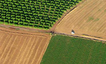 aerial land shot