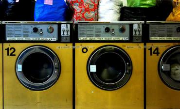 Old laundromat machines