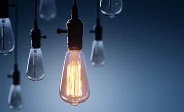 Leadership concept, one bright light