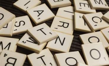 Scrabble letter scattered