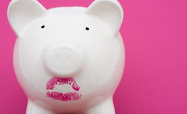 Lipstick on a piggy bank