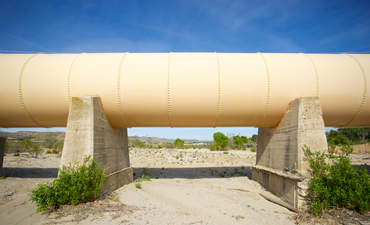 Los Angeles Aqueduct in the desert