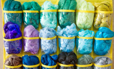 Lyocell and wool felting