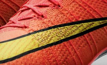 Close-up of Nike Flyknit shoe