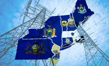 Northeastern states over electric lines