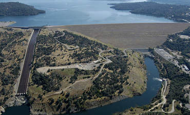 The Oroville dam in Northern California.