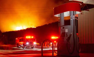 Pescadero wildfire, October 2019