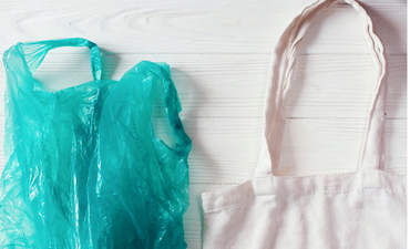 plastic and tote bag