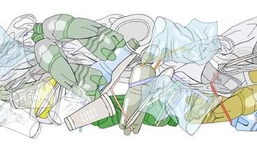 Illustration of plastic waste