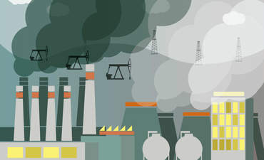 Illustration of industrial landscape
