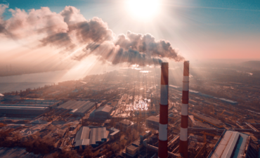 factory emitting carbon dioxide