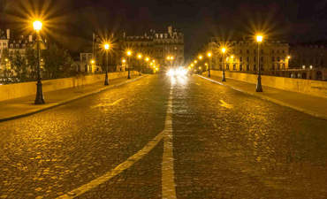 Pont Royal, Paris, by night