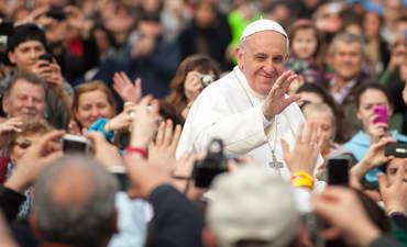 Pope Francis I in Rome in 2013