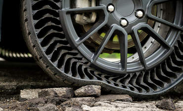 Michelin's Uptis airless tire prototype