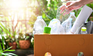 Plastic and paper items for recycling