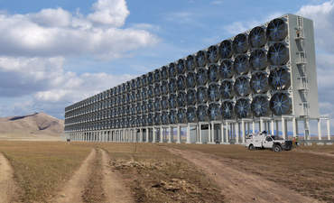 Rendering of Carbon Engineering capture plant