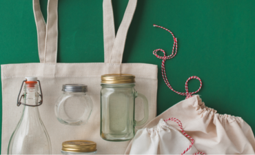 Reusable grocery bag and food containers