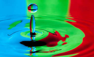 Water drop creating ripples
