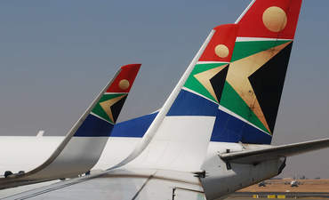 South African Airways plane tails