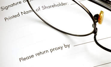 corporate proxy statement, shareholder activism