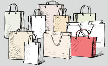 Shopping bags illustration