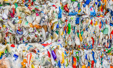 plastic bales, recycling, MRF