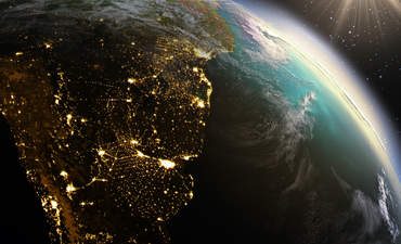 NASA, satellite image, Earth, South America