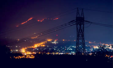 electric grid, wildfire
