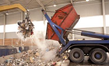 Waste incinerator, truck