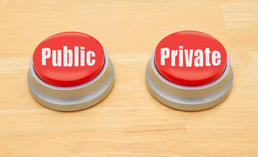 public, private buttons