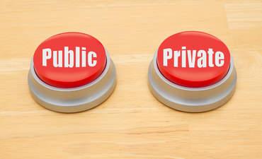 public, private buttons