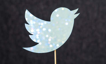 Twitter's bird icon, full of glitz