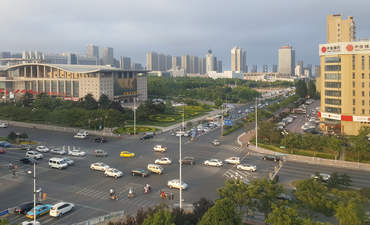 China, Rizhao, industrial park