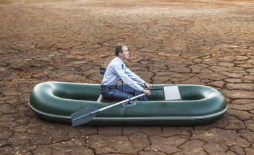 boat on dry land, corporate sustainability without resources