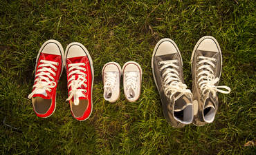 family parents sneakers