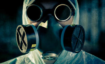 gas mask and social risk