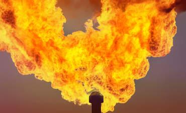 methane flare, emissions, climate change