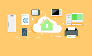 Illustration of tech in a connected home