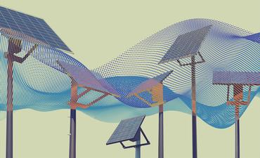 solar panels against pattern background