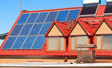 Solar panels on home