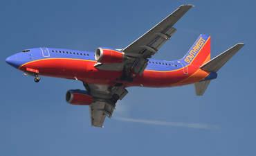 Southwest plane flying